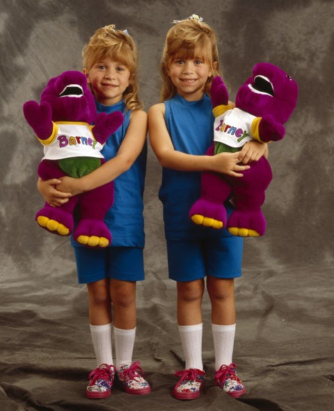 MAY 5, 1993 In a promotional portrait for The Olsen Twins' Mother's Day Special.