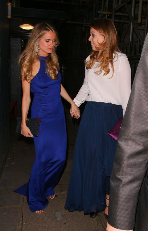 <p><strong>Cressida Bonas and Princess Beatrice</strong> <p>Sisters-even-after-misters friends.