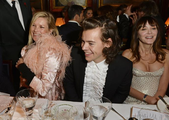 <p><strong>Kate Moss and Harry Styles</strong> <p>Fancy (flirty) friends.