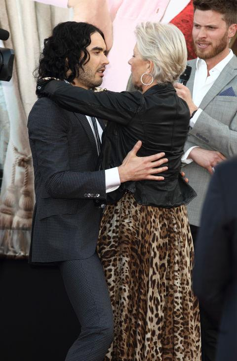 "<p><strong>Russell Brand and Helen Mirren</strong> <p><a href=""http://www.telegraph.co.uk/culture/8450212/Russell-Brand-tells-of-love-affair-with-Helen-Mirren.html"">""A Dame and a vagabond""</a> friends (Russell Brand's description)"
