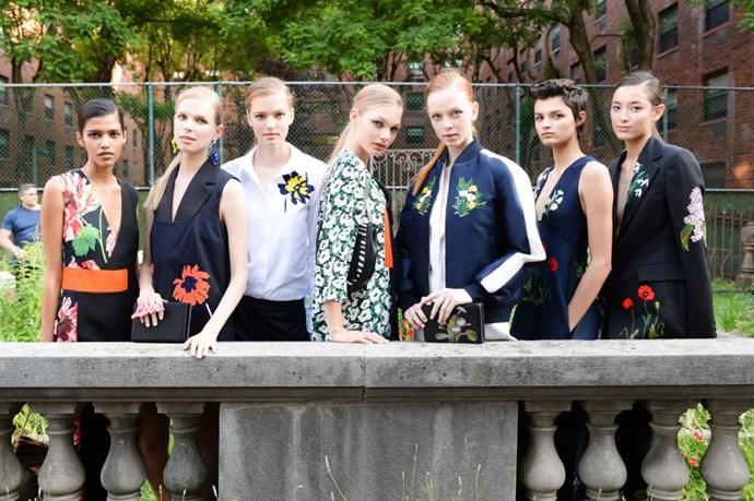 Models wearing Stella McCartney Resort 2016
