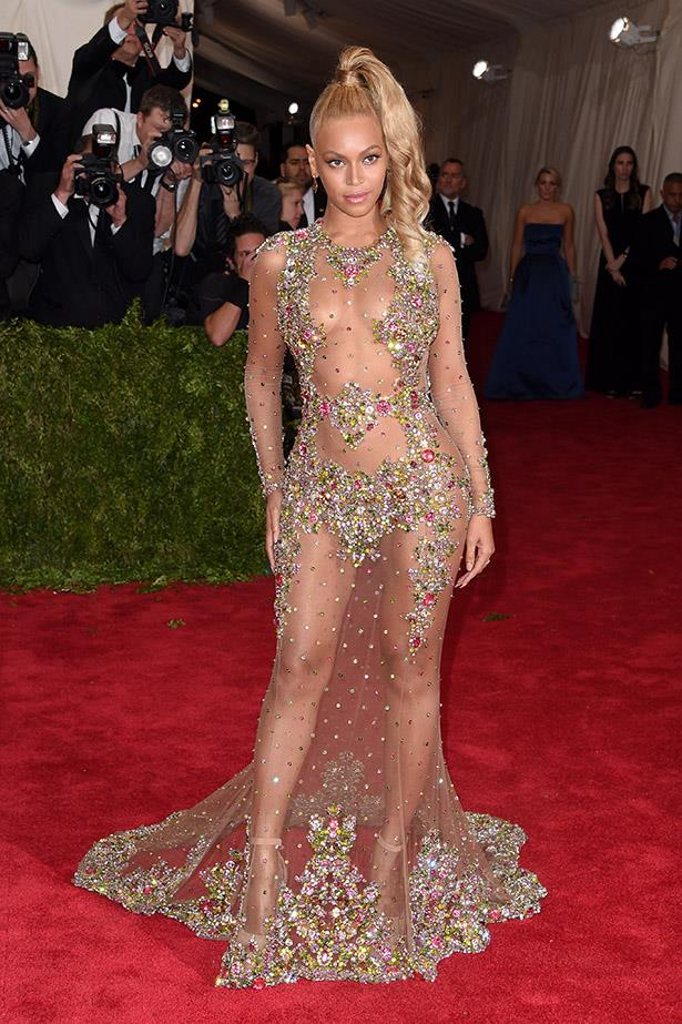 Beyonce at the Met Gala earlier this year.