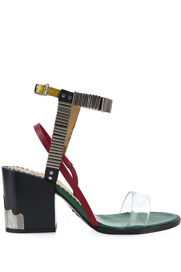 "Toga embellished block sandal, <a href=""http://www.matchesfashion.com/au/products/Toga-Embellished-block-heel-sandals-1008891"">Matches</a>"