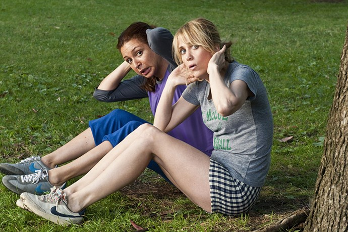 <strong>Annie and Lillian</strong> from <em>Bridesmaids</em> <BR> <strong>Why they work:</strong> these two bring out the cheekiness in each other- following a gym class in the park they can't pay for, imitating penises in cafes and getting drunk on flights <BR> <strong>Friendship life lesson:</strong> stay close to your old friends, even when you're making new ones
