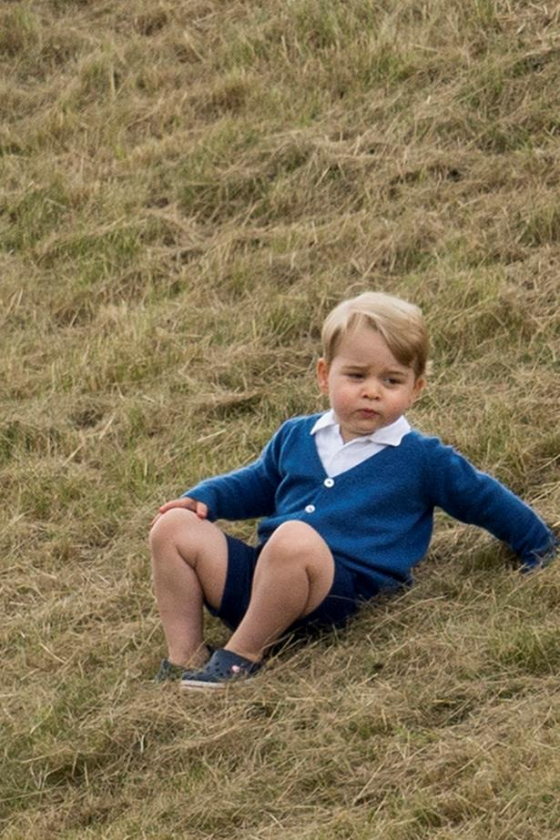 Prince George, just chilling.