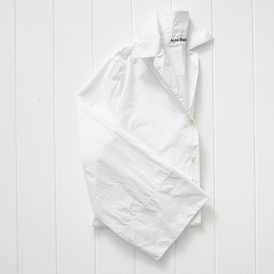 "Still getting lots of wear out of my white flare sleeve shirt. <a href=""http://www.farfetch.com/uk/shopping/women/acne-studios-oversize-shirt-item-10910048.aspx "">Shirt, $320, Acne Studios, farfetch.com</a>"