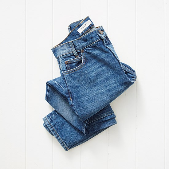 Love the high waist and wash of these jeans. Jeans, $330, Sandro Paris, (02) 9327 3377