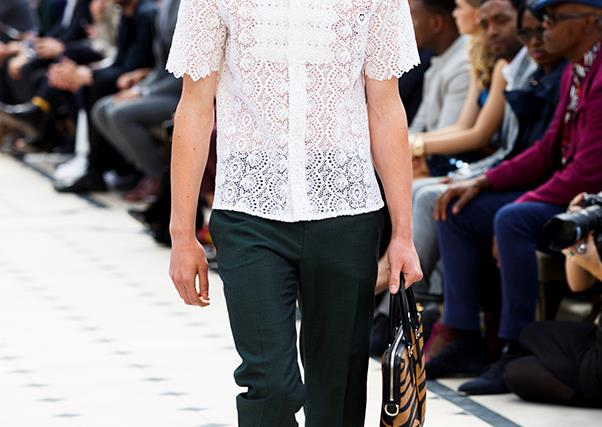 We want our boyfriends to wear the lace blouses from Burberry