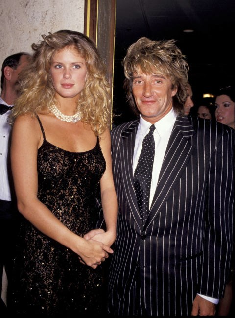 RACHEL HUNTER AND ROD STEWART (1990-1999) Though Hunter separated from Stewart (who is 24 years her senior) in 1999, their divorce wasn't finalized for nearly seven years.