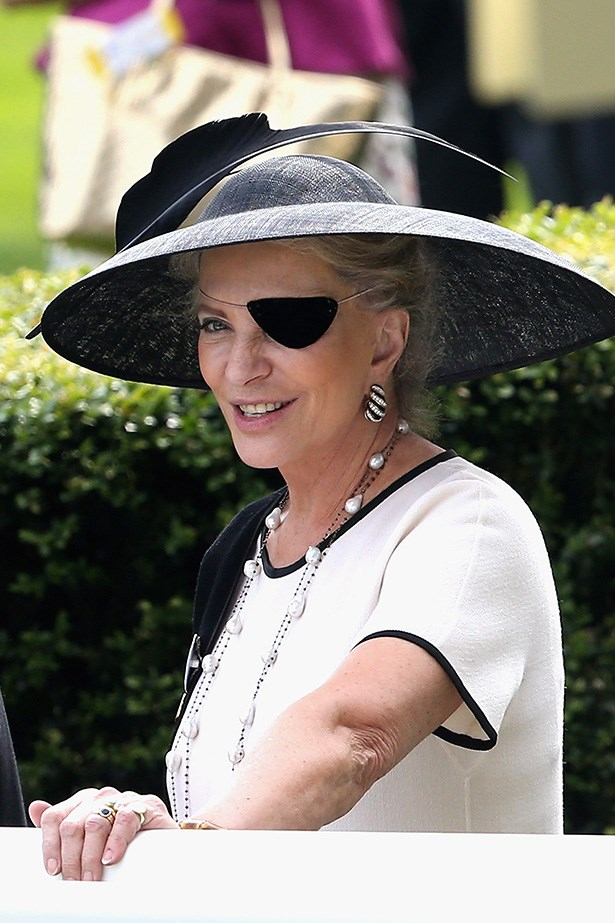 I'm sure we're not meant to say it, but QUITE digging Princess Michael of Kent's eye patch.