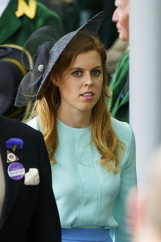 Princess Beatrice keeps it faaaairly muted in the hat department.