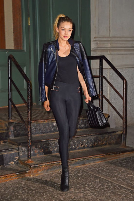 <strong>MAY 28, 2015</strong> <BR> Leaving Taylor Swift's apartment in New York City.