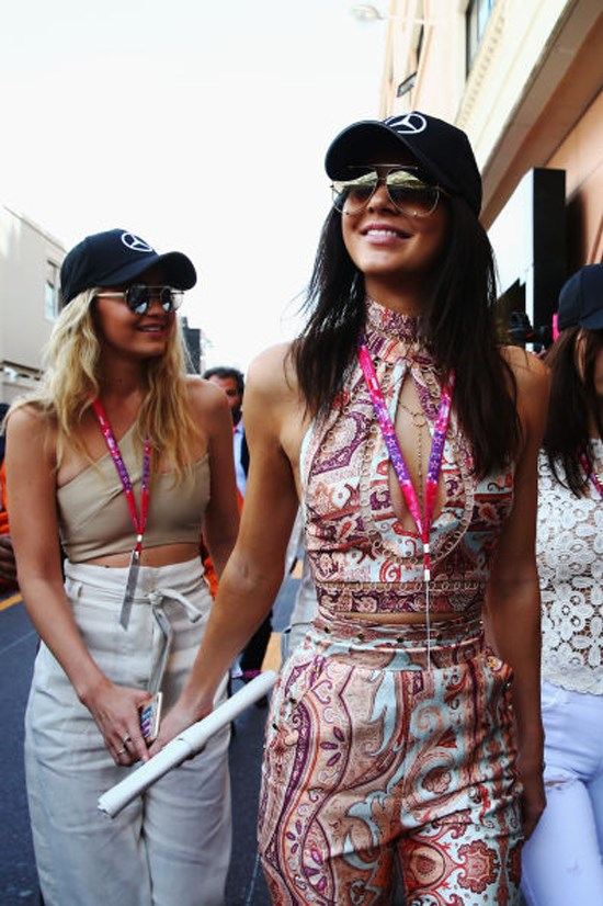 <strong>MAY 24, 2015</strong> <BR> At the Grand Prix in Monaco with Kendall Jenner.
