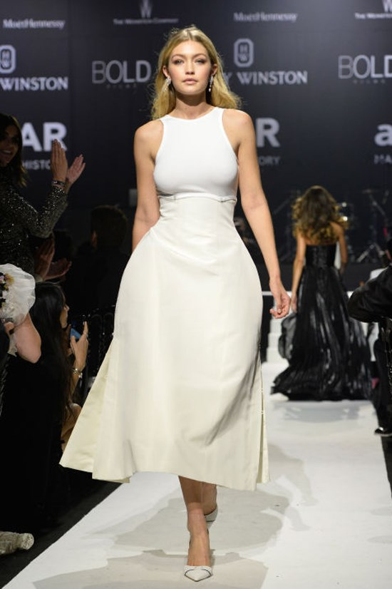 <strong>MAY 21, 2015</strong> <BR> Modeling at the amfAR gala in Cannes.