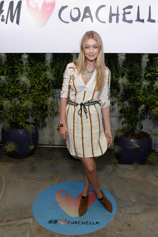 <strong>APRIL 10, 2015</strong> <BR> At the Official H&M Loves Coachella Party At the Parker Palm Springs, California.