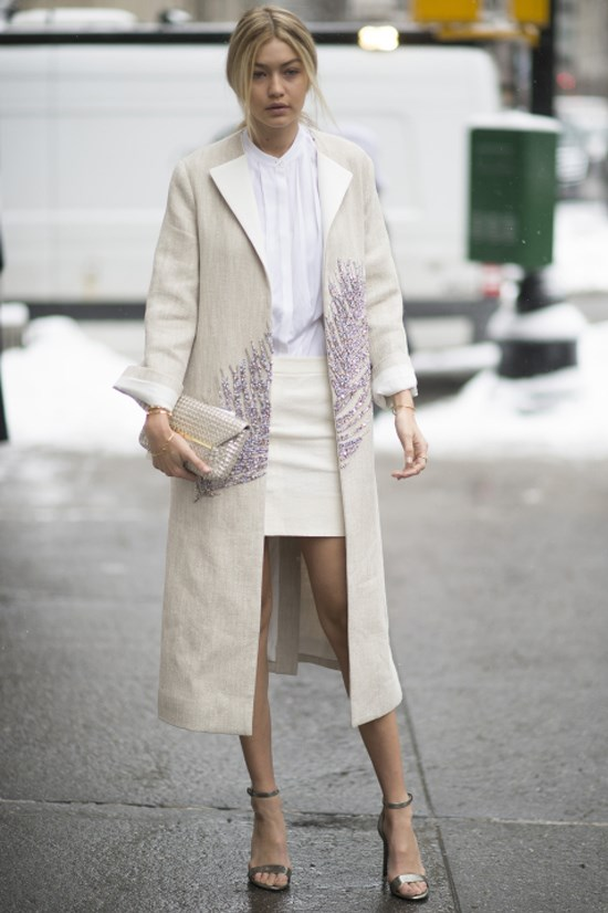 <strong>FEBRUARY 17, 2015</strong> <BR> Outside the Tory Burch show at New York Fashion Week