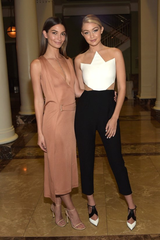 <strong>FEBRUARY 11, 2015</strong> <BR> With Lily Aldridge at a Sports Illustrated Swimsuit event in Nashville