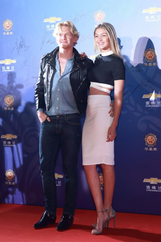 <strong>JANUARY 8, 2015</strong> <BR> With Cody Simpson at the 14th Huading Award Global Music Satisfaction Survey Release Ceremony in Shanghai