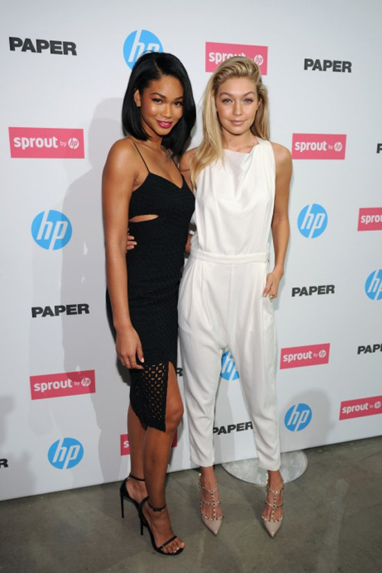 <strong>OCTOBER 29, 2014</strong> <BR> With Chanel Iman at an HP event in New York
