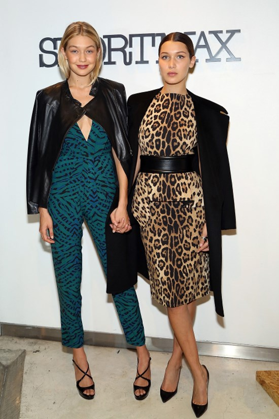 <strong>OCTOBER 28, 2014</strong> <BR> With Bella Hadid at the Sportmax and Teen Vogue Celebrate The Fall/Winter 2014 Collection event