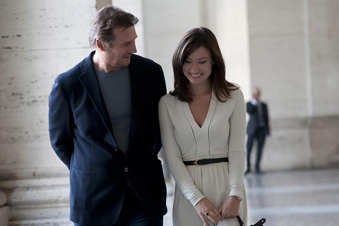 <strong><em>The Third Person</strong></em><br> <strong>People:</strong> Olivia Wilde (29) and Liam Neeson (61)<br> <strong>Age gap:</strong> 32 years