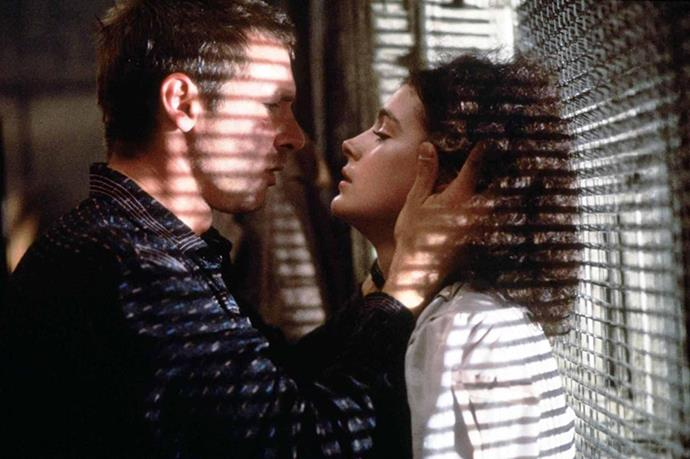 <em><strong>Blade Runner</strong></em><br> <strong>People:</strong> Sean Young (22) and Harrison Ford (39)<br> <strong>Age gap:</strong> 17 years