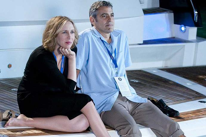 <em><strong>Up in the Air</strong></em><br> <strong>People:</strong> Vera Farmiga (36) and George Clooney (48)<br> <strong>Age gap:</strong> 12 years