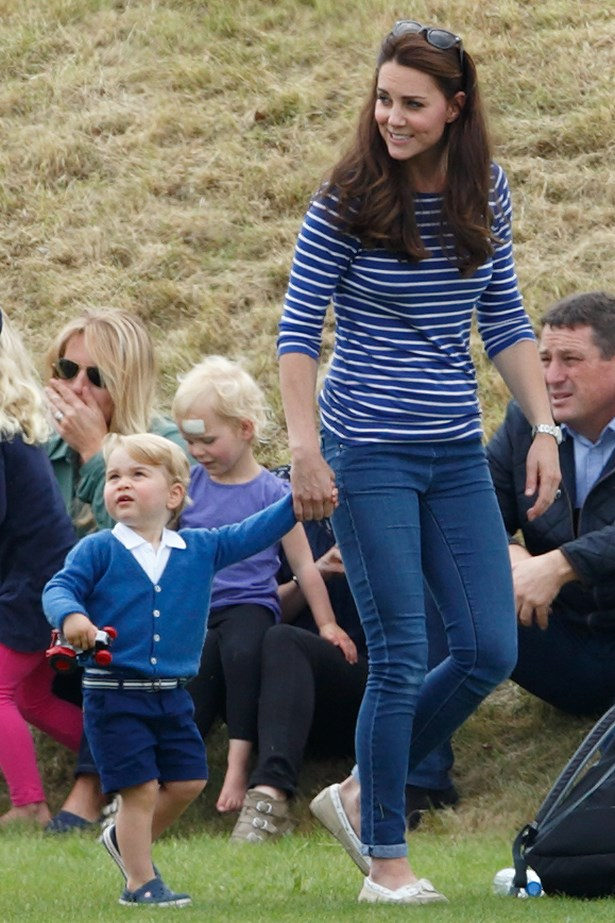 The Duchess of Cambridge is a long time fan of the stripes. We are a long time fan of Prince George's sartorial stylings also.