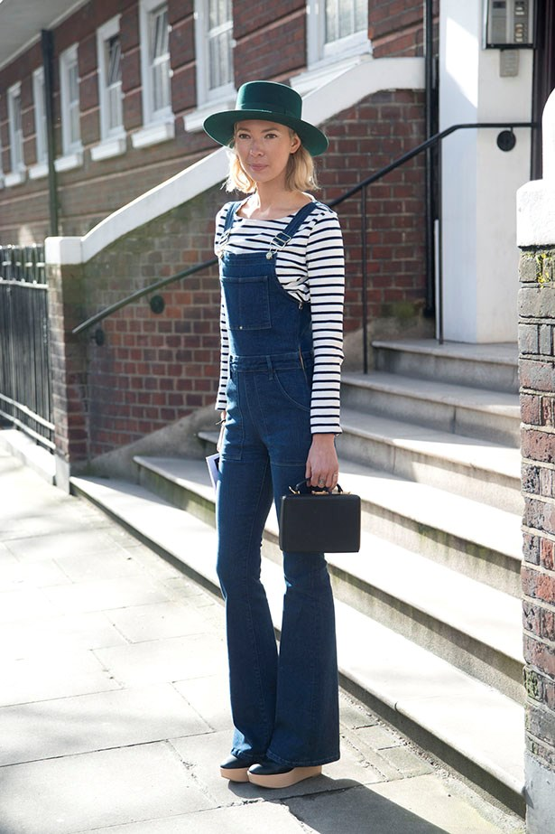 Stripes on the street. Extra cred for overalls. Which you should definitely try.