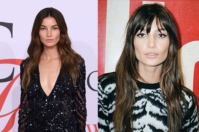 <strong>Lily Aldridge</strong> <br><br>Lily Aldridge proves that the addition of a fringe can change up your entire look. Although she quickly went back to her tousled waves, sans the fringe. But really can the Victoria's Secret Angel and Sports Illustrated Swimsuit Issue regular do any wrong? The answer is no.