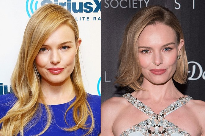 <strong>Kate Bosworth</strong> <br><br>Can this bohemian darling do any wrong? While she's toyed around with varying shades of blonde in changing lengths over the years we love her current elegant shoulder-length do.