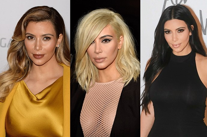 <strong>Kim Kardashian</strong> <br><br>Whether it's a platinum blonde lob, flawlessly ombre-ed hair or her current long black do, the reality-tv star turned fashion muse and entrepreneur proves that when it comes to hair versatility is key.