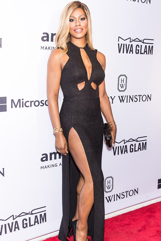 OITNB's Laverne Cox at the amFAR Gala.