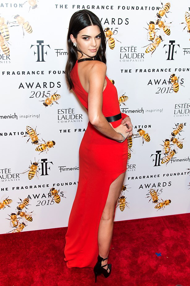 Kendall Jenner at the Fragrance Foundation Awards.