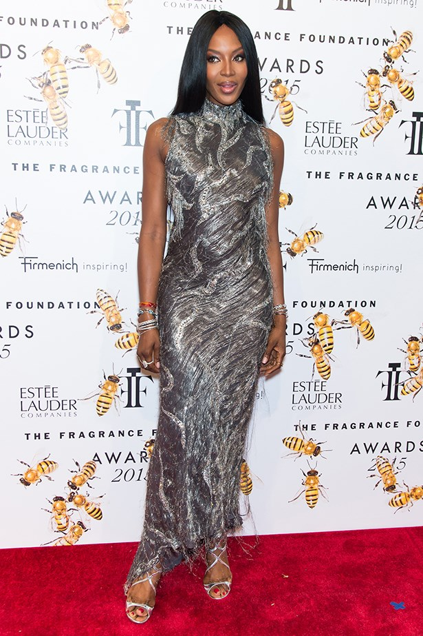 Naomi Campbell at the Fragrance awards.