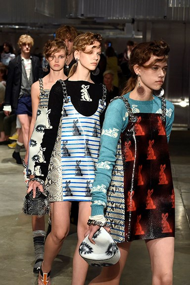 Prada's girl is probably running late for her ceramics class