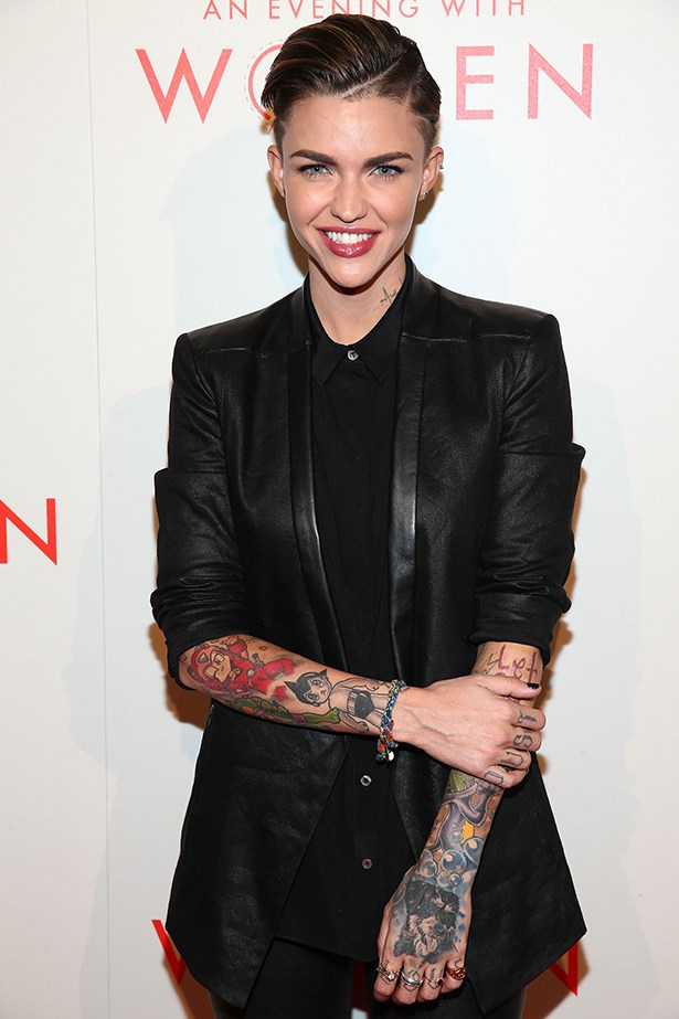 <strong>Ruby Rose</strong><br> Girl Crush rationale: She's a role model for LGBTI youth and broke into the notoriously exclusive Hollywood world with a role in one of the best shows on TV (tattooed arms and all)