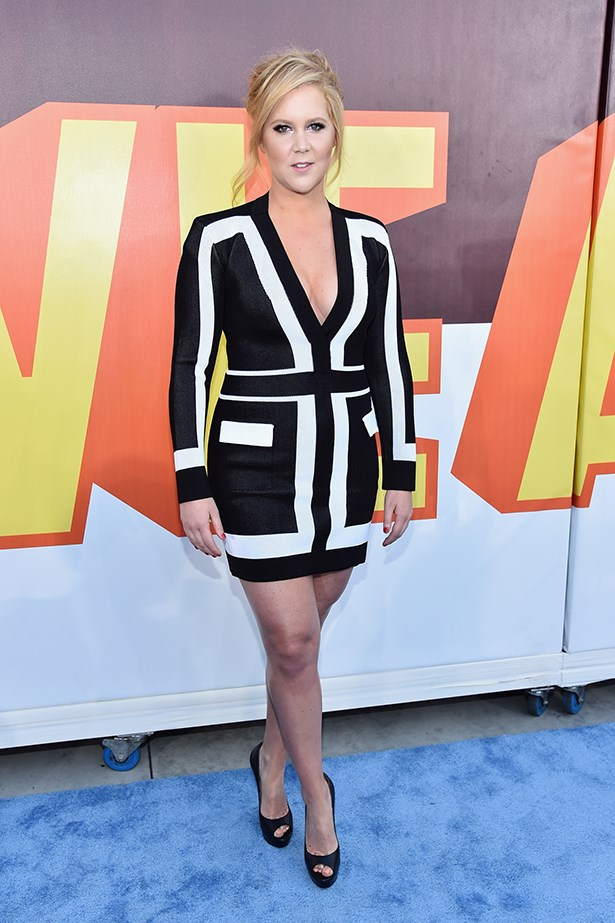 """<strong>Amy Schumer</strong><br> Girl Crush Rationale: Not only is she the funniest newcomer to the comedy scene in years, she's not afraid to call bullshit on sexist double standards, ageism and rape culture (see more <a href=""""http://http://www.elle.com.au/news/celebrity-news/2015/6/amy-schumers-10-best-sketches/"""">here</a>)"""