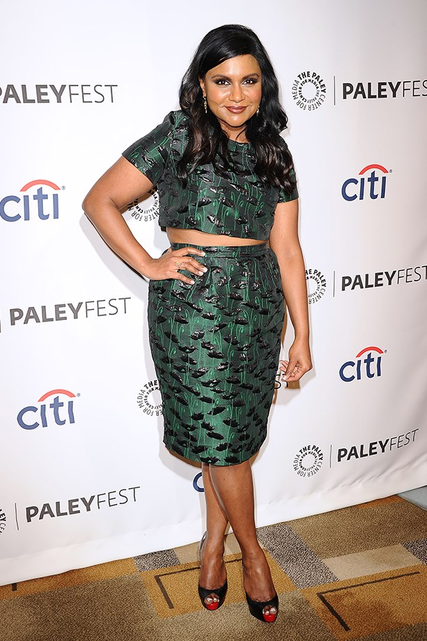 <strong>Mindy Kaling</strong><br> Girl Crush Rationale: Created, writes, stars and produces the successful series The Mindy Project, has written a best-selling book with a second confirmed, and champions the push for women of colour to be better represented on TV