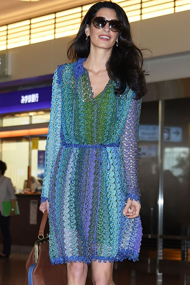 In Missoni at the airport.