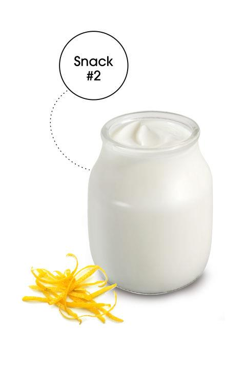 """ZESTY BRAIN BOOST Coconut Yogurt with Lemon Zest: Swap dairy for coconut yogurt. """"Dairy is one of the most common food sensitivities, which can lead to chronic inflammation and disrupt brain chemistry,"""" James says. """"The saturated fat in the coconut helps to improve brain cell integrity."""" The hint of lemon also provides an invigorating boost."""