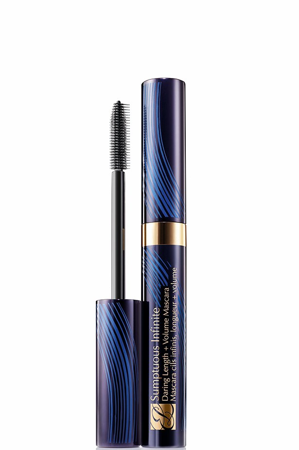 "<strong>Mascara</strong>: Sumptuous Infinite Daring Length + Volume Mascara, $48, Estée Lauder <a href=""http://www.esteelauder.com.au/"">esteelauder.com.au</a> <br><br> <strong>Best for</strong>: Lengthy lashes. <br><br> <strong>We love</strong>: This mascara stays put for up to 10 hours, is clump-resistant and smudge-free."