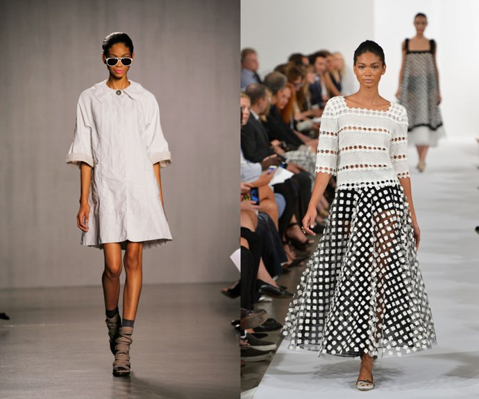 CHANEL IMAN <p>Walking the Proenza Schouler Spring/Summer 2007 catwalk in 2006, and the Oscar de la Renta Spring/Summer 2014 presentation in 2013.</p> <p>With a name like Chanel Iman, how can you not make a splash in the fashion industry? The then-16-year-old did just that after nabbing third place in Ford Models' Supermodel of the World contest in 2006, promptly walking several runway shows in her debut season thereafter.</p>