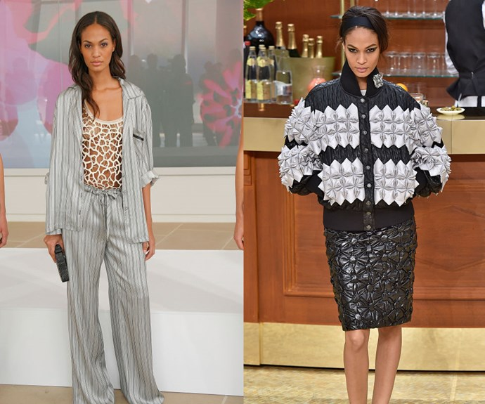 JOAN SMALLS <p>At the Rachel Roy Spring/Summer 2008 Presentation in 2007, and at the Chanel Fall/Winter 2015 show earlier this year.</p> <p>Now a Victoria's Secret Angel and a household name, Smalls looks exactly the same as she did at 19 during her first New York Fashion Week season.</p>