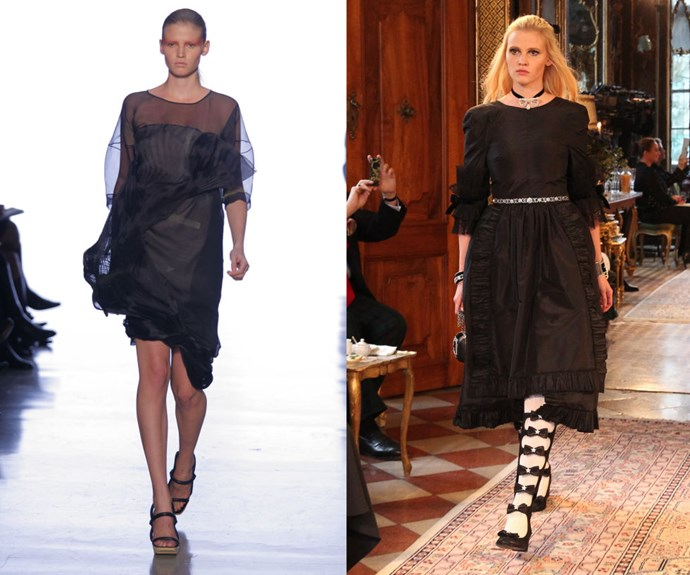 LARA STONE <p>At the Calvin Klein Spring/Summer 2007 presentation in 2006, and walking for the Chanel Metiers d'Art Collection in Salzburg late last year.</p> <p>The Dutch beauty has built a platform for herself about motherhood's intersection (or prior lack thereof) with the modelling industry, but back in 2006, she was fresh on her New York City debut with a Calvin Klein exclusive. (And things come full circle: She now has a major print contract with the brand as well).</p>