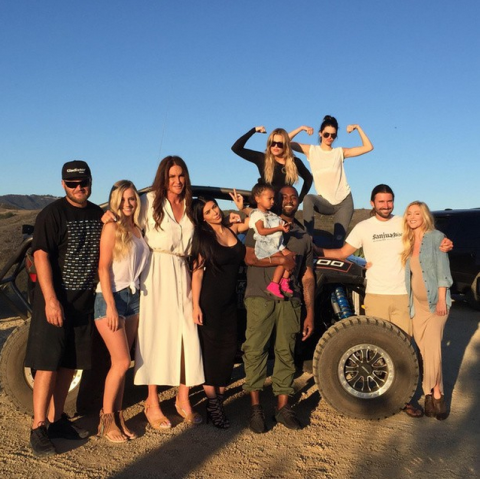 JUNE 21, 2015 In a white dress with her family on Father's Day.