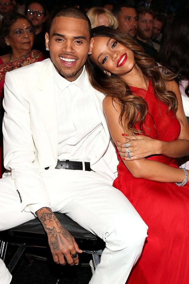 """<strong>CHRIS BROWN AND RIHANNA</strong><br> It's hard to forget what went down with Chris Brown and Rihanna. Of the argument that escalated into a physical assault, Rihanna told 20/20: """"It escalated into him being violent toward me, and it was ugly....He was clearly blacked out. There was no person when I looked at him. It was almost as if he had nothing to lose. He had so much to lose. But it was almost as if he had nothing to lose. It wasn't the same person that says I loved you. It definitely wasn't those eyes."""""""