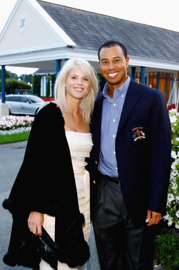 <strong>ELIN NORDEGREN AND TIGER WOODS</strong><br> Welp, you can't get much more public than a Tiger Woods-style breakup. After Tiger was revealed to be a super cheater, Elin attacked him and his car with a golf club.