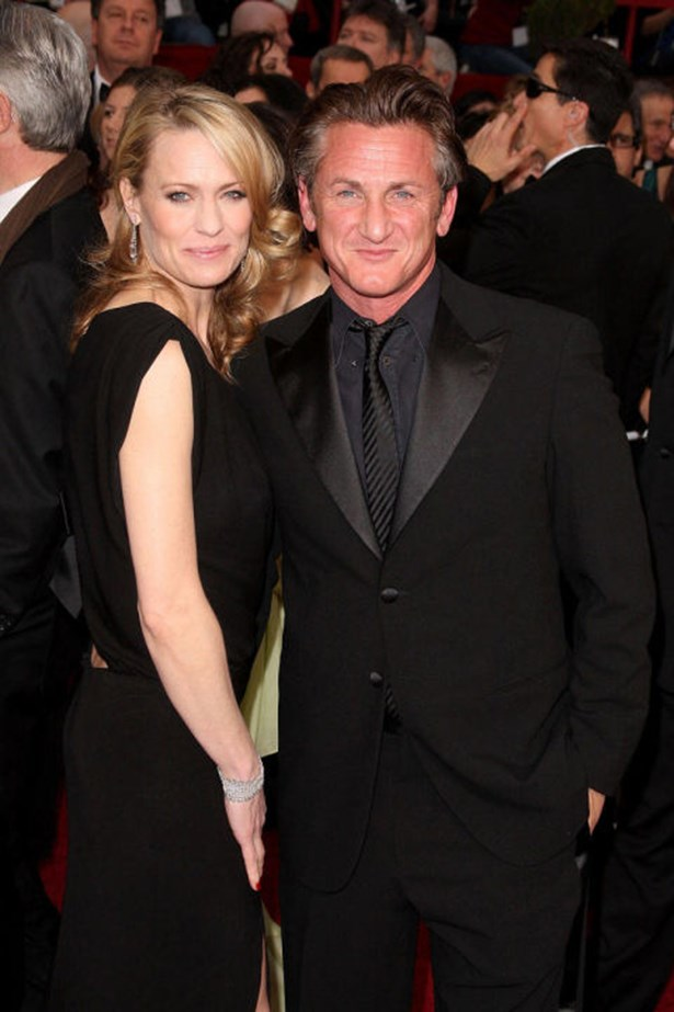"""<strong>ROBIN WRIGHT AND SEAN PENN</strong><br> Robin Wright and Sean Penn's relationship was full of breakups and makeups with the two finally divorcing in 2010 after 20 years together (they were married for 14 of them). """"One of the reasons why we got back together and broke up so much was trying to keep the family together,"""" <a href=""""http://www.usmagazine.com/celebrity-news/news/robin-wright-talks-devastating-sean-penn-divorce-not-traditional-romance-with-ben-foster-2014122#ixzz3LKniq1tk"""">Wright told The Telegraph</a> earlier this year. """"If you've got kids, it's a family, and you try again, and you try again. We did that for a long time."""""""