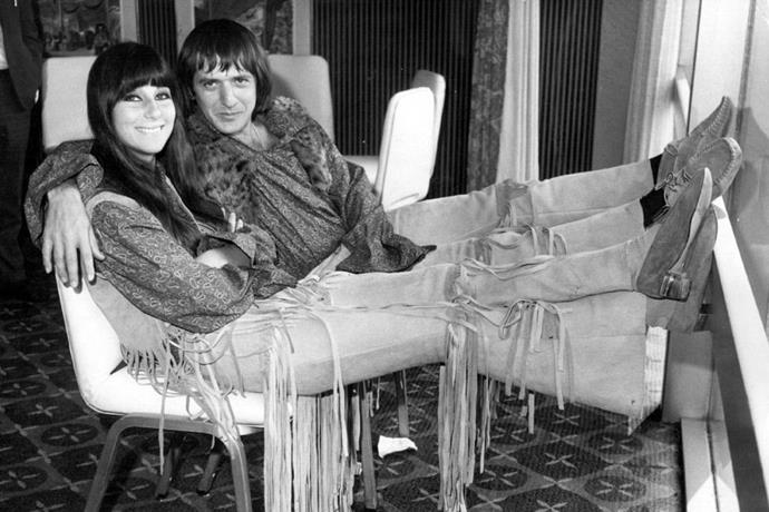 <strong>CHER AND SONNY BONO</strong><BR> Well, it's going to be a kind of<em> thing</em> if you're going to break up with the person you starred in two eponymous top 10 TV shows with, and dressed like on the regular.